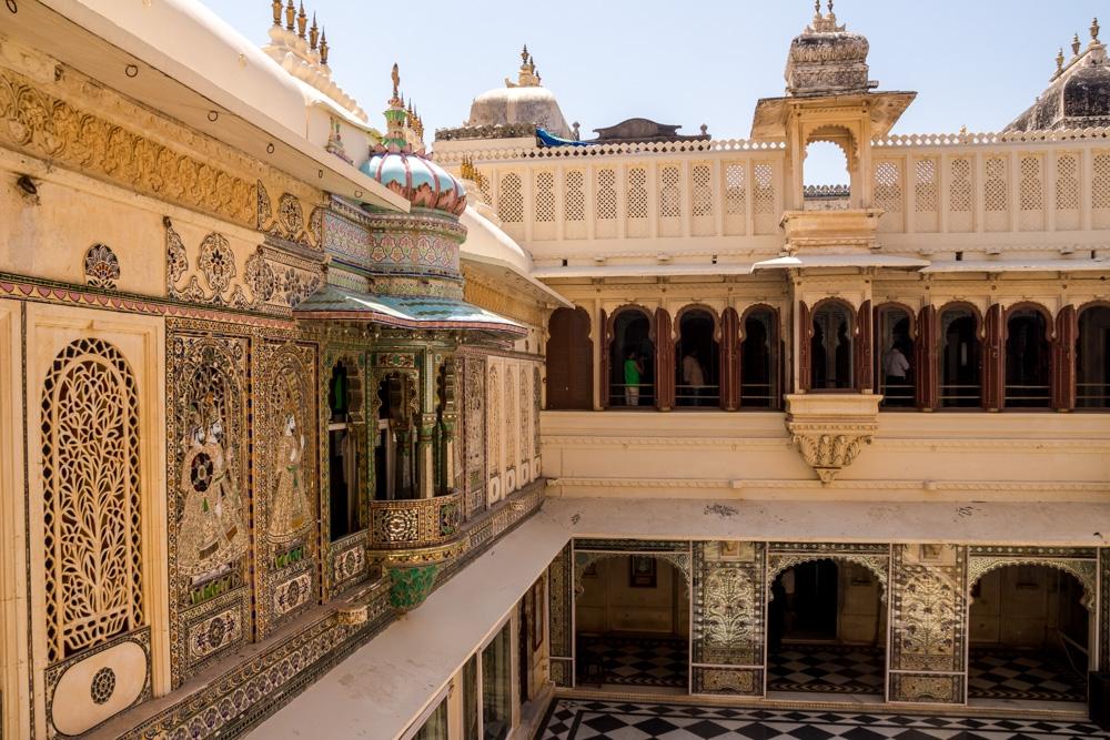 Dentro del palacio, Udaipur