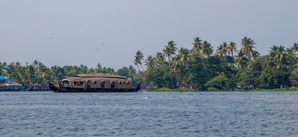 Panorámica de los Backwaters, Alepey