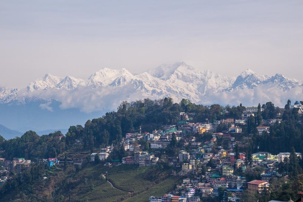 Darjeeling con el Kanchenjunga y los Himalaya