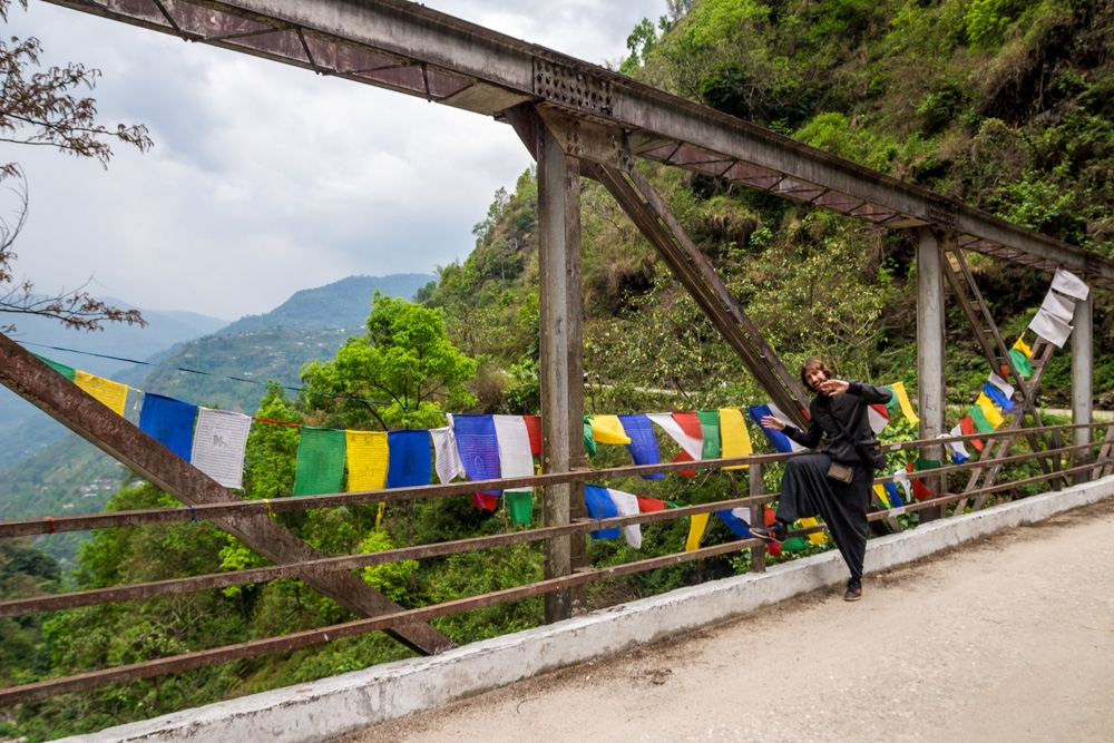 Uno de los muchísimos puentes que unen las montañas de Sikkim