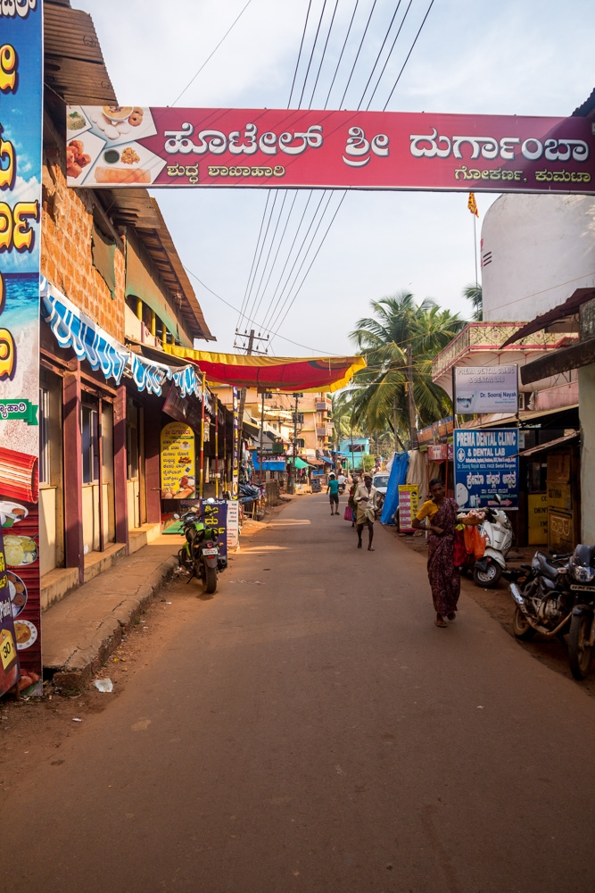 Calles del pueblo de Gokarna