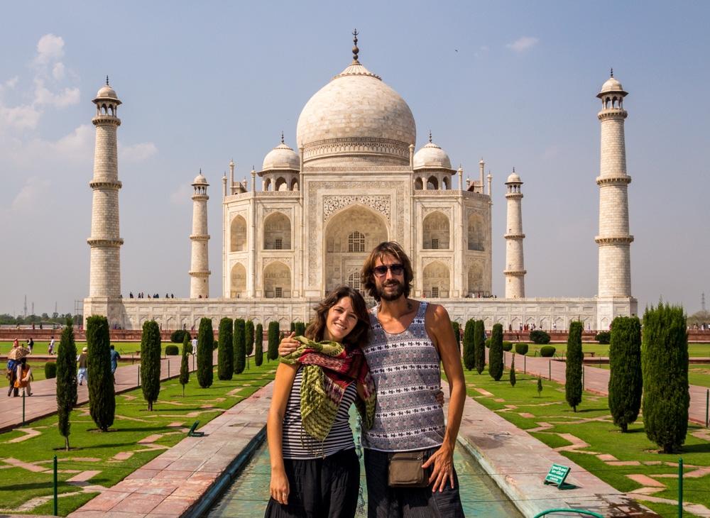 La única foto decente que nos hicieron, Taj Mahal