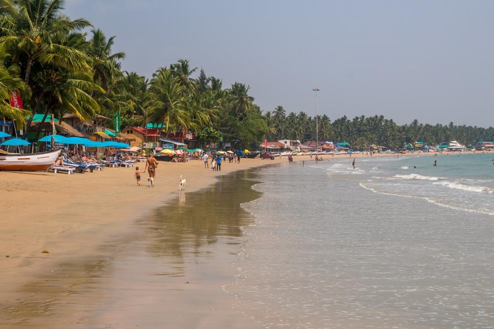 La marea está subiendo, Palolem, Goa