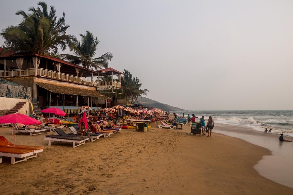 Restaurantes y alojamientos en Anjuna, Goa