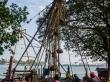 Levantando las redes de pesca chinas, Fort Cochi