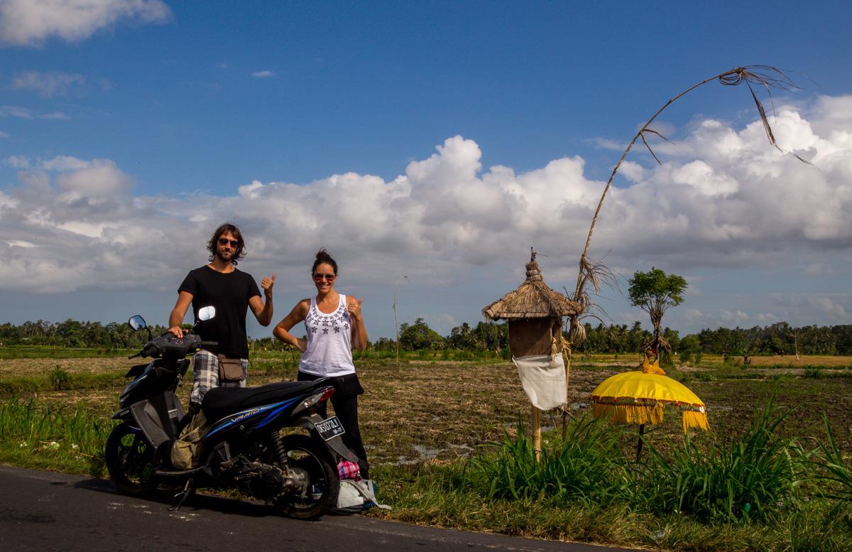 Con nuestra amoto por Bali!