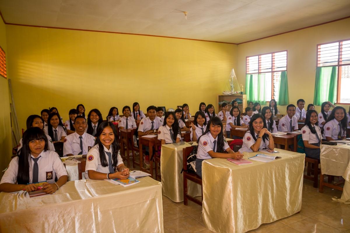 Clase de instituto en Rantepao