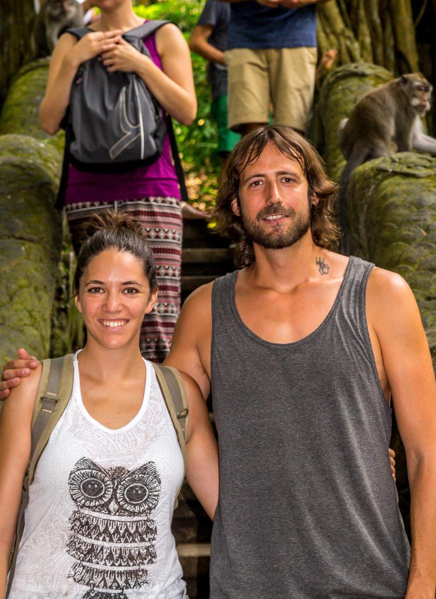 En el Monkey Forest, Ubud, Bali