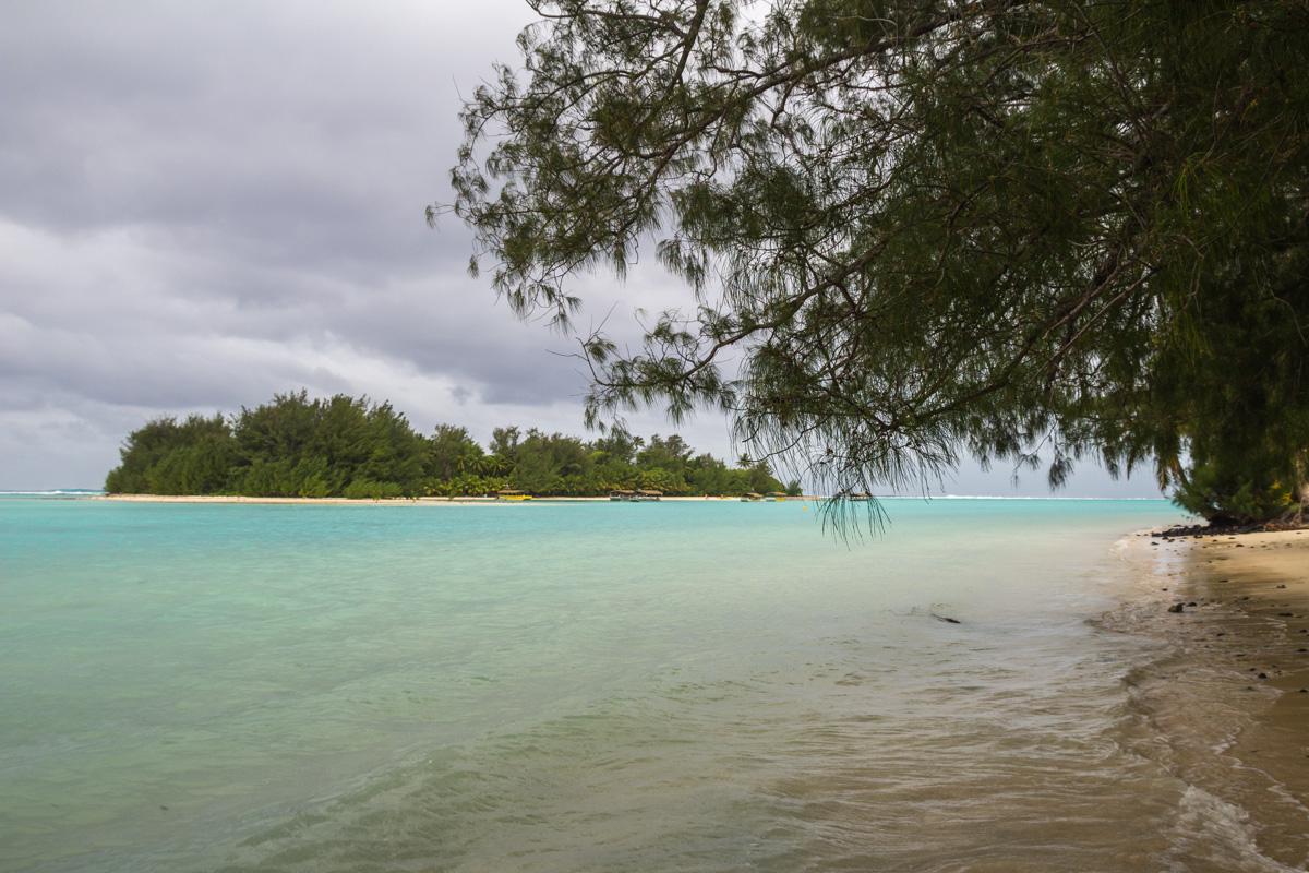 Laguna y motu, islas Cook