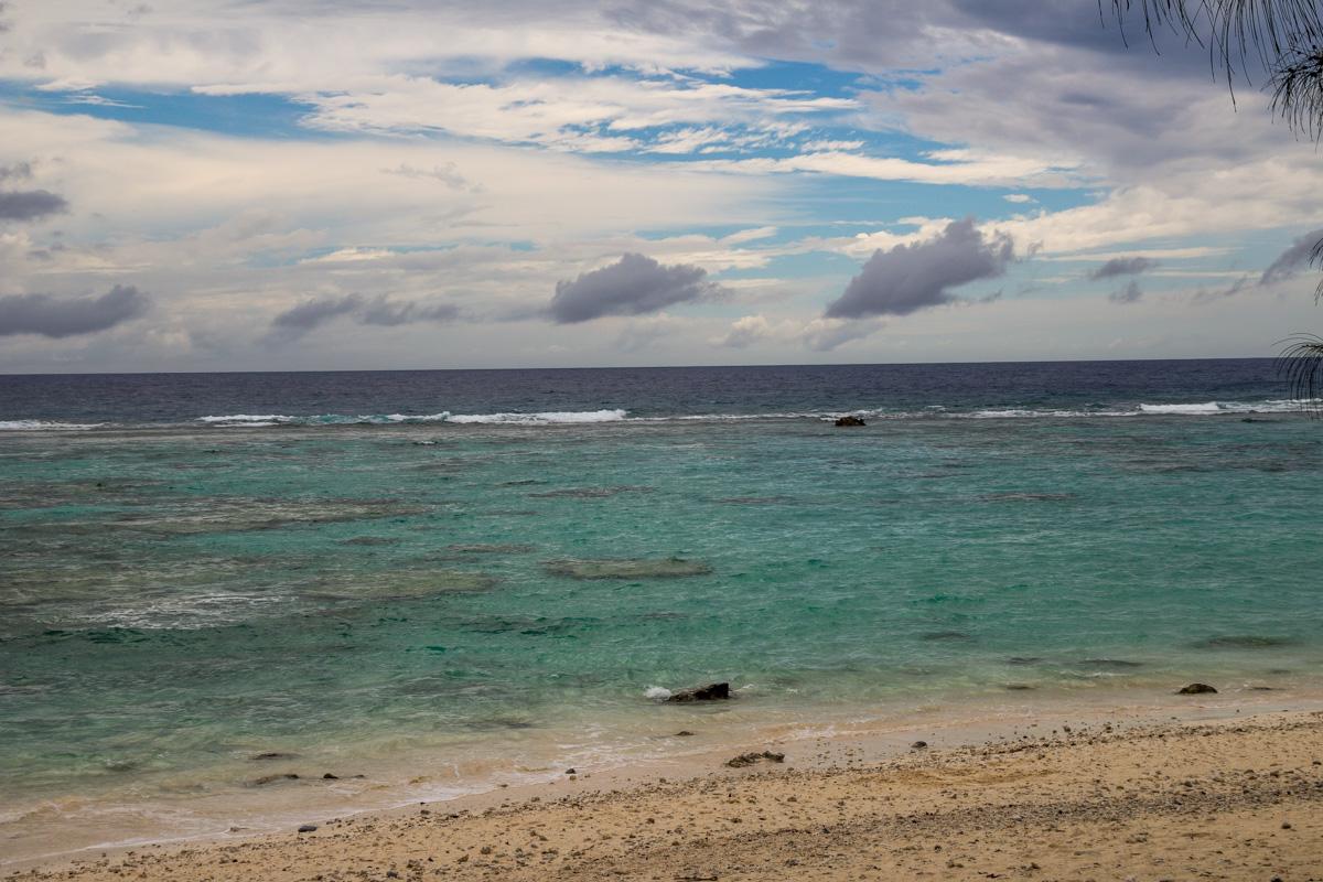 La costa oeste de Rarotonga, Islas Cook