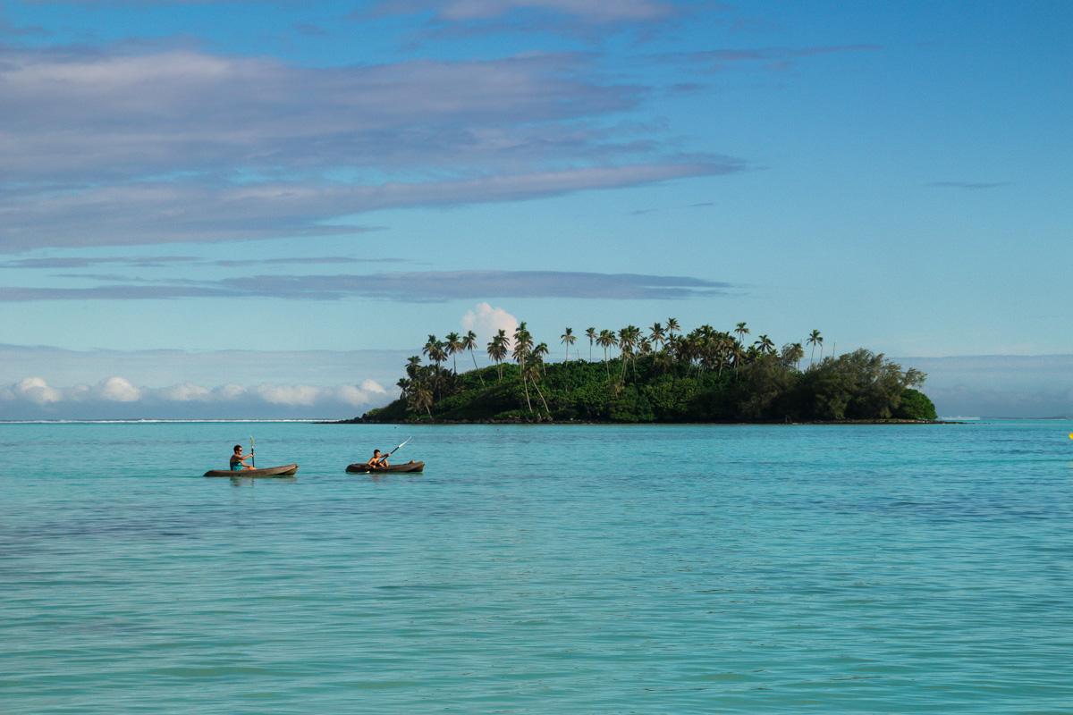 Kayaking en Muri Lagoon, Rarotonga, islas Cook