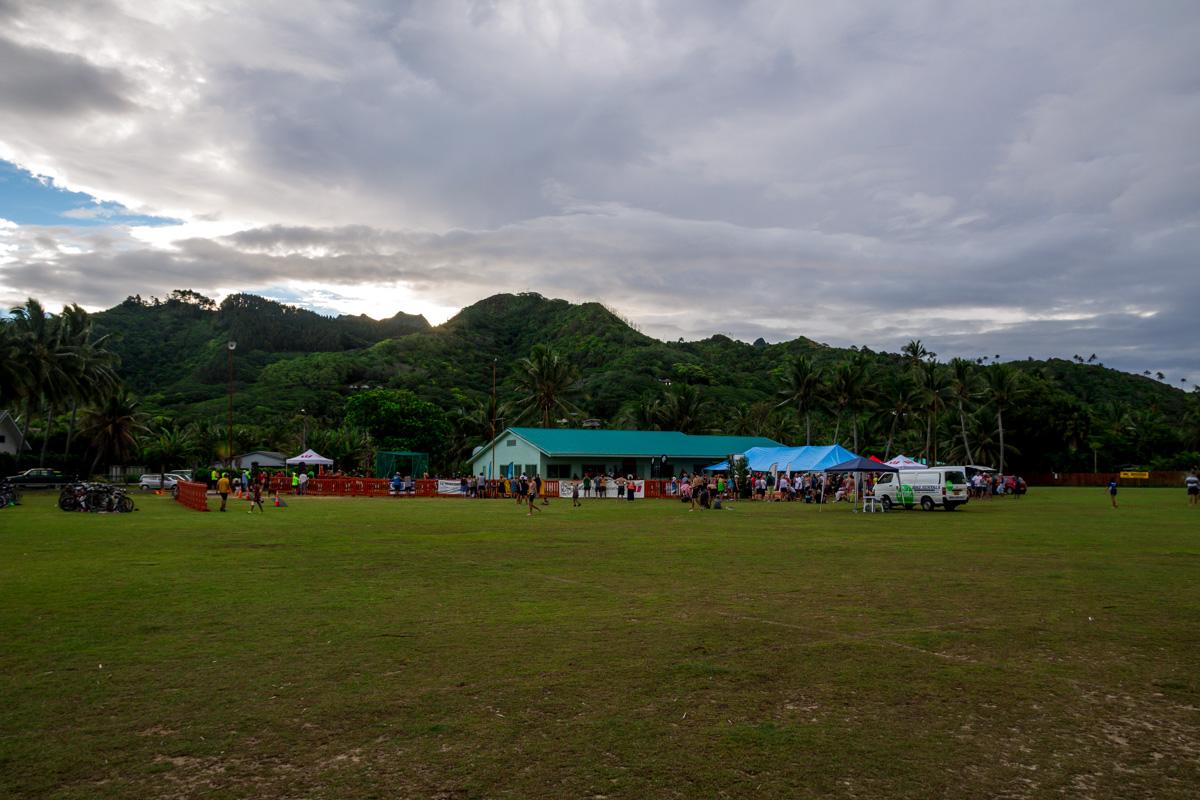 Campo de rugby en Rarotonga, islas Cook