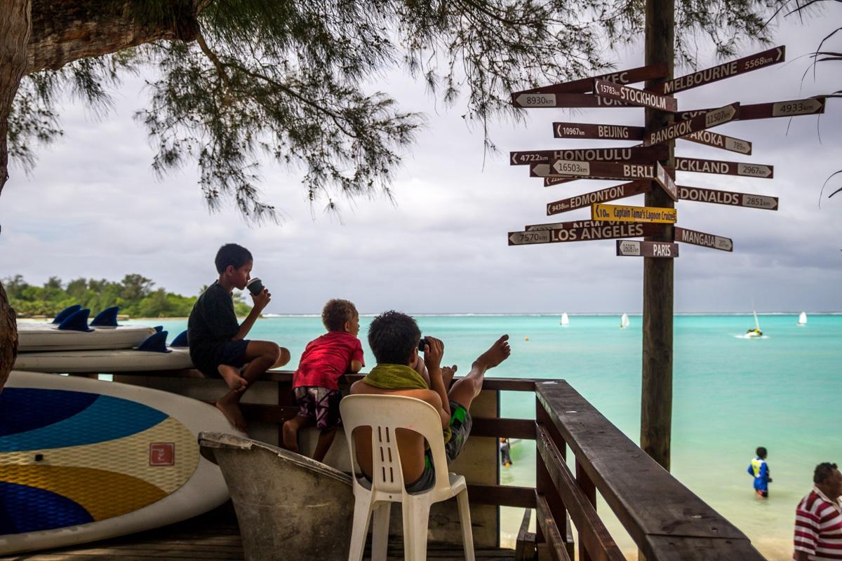 Está todo lejos! Islas Cook