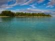 Motu en la laguna, Rarotonga, islas Cook