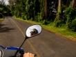 Muy a gusto con nuestra moto. Rarotonga, islas Cook
