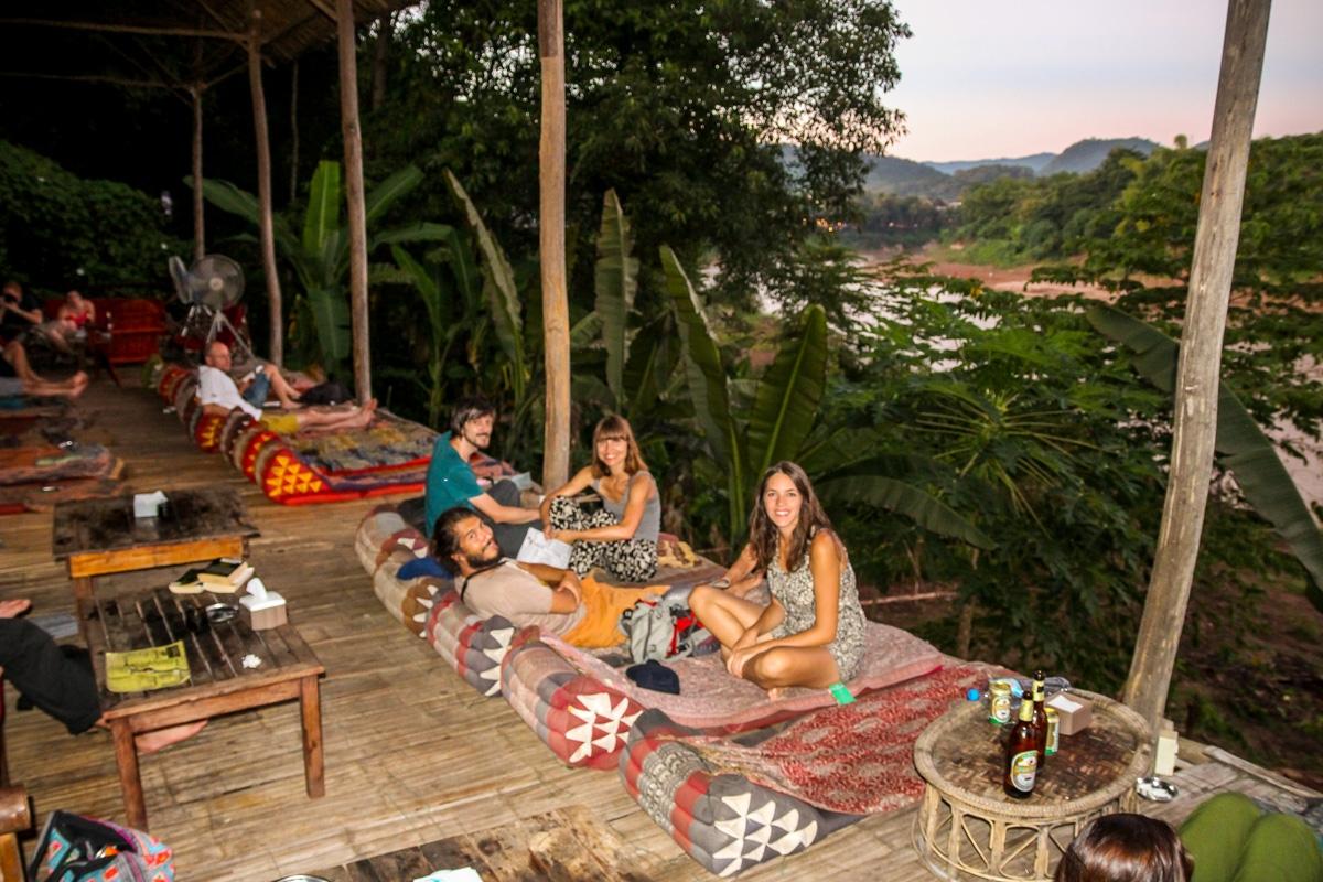 Relajándonos en el Utopía, Luang Prabang