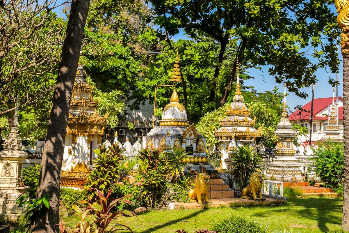 Jardines y calor, Vientiane