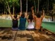 Con Julian y Nadine en las cascadas de Tad Se, Luang Prabang