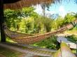 Obra de arte de la ingerniería con un bambú
