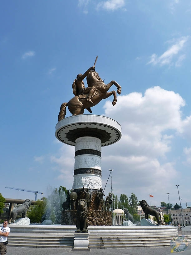 Monumento a Alejandro Magno el centro de Skokpje
