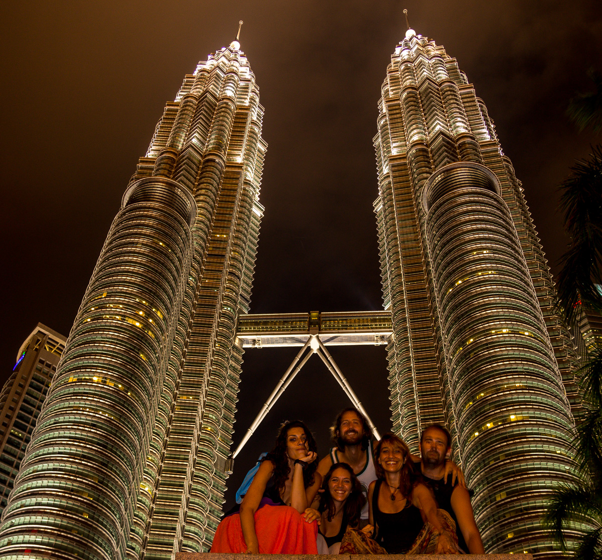 Foto de grupo, Torres Petronas, Kuala Lumpur