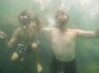 Con mi hermano snorkeleando
