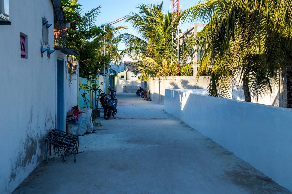 Una calle cualquiera de Maafushi