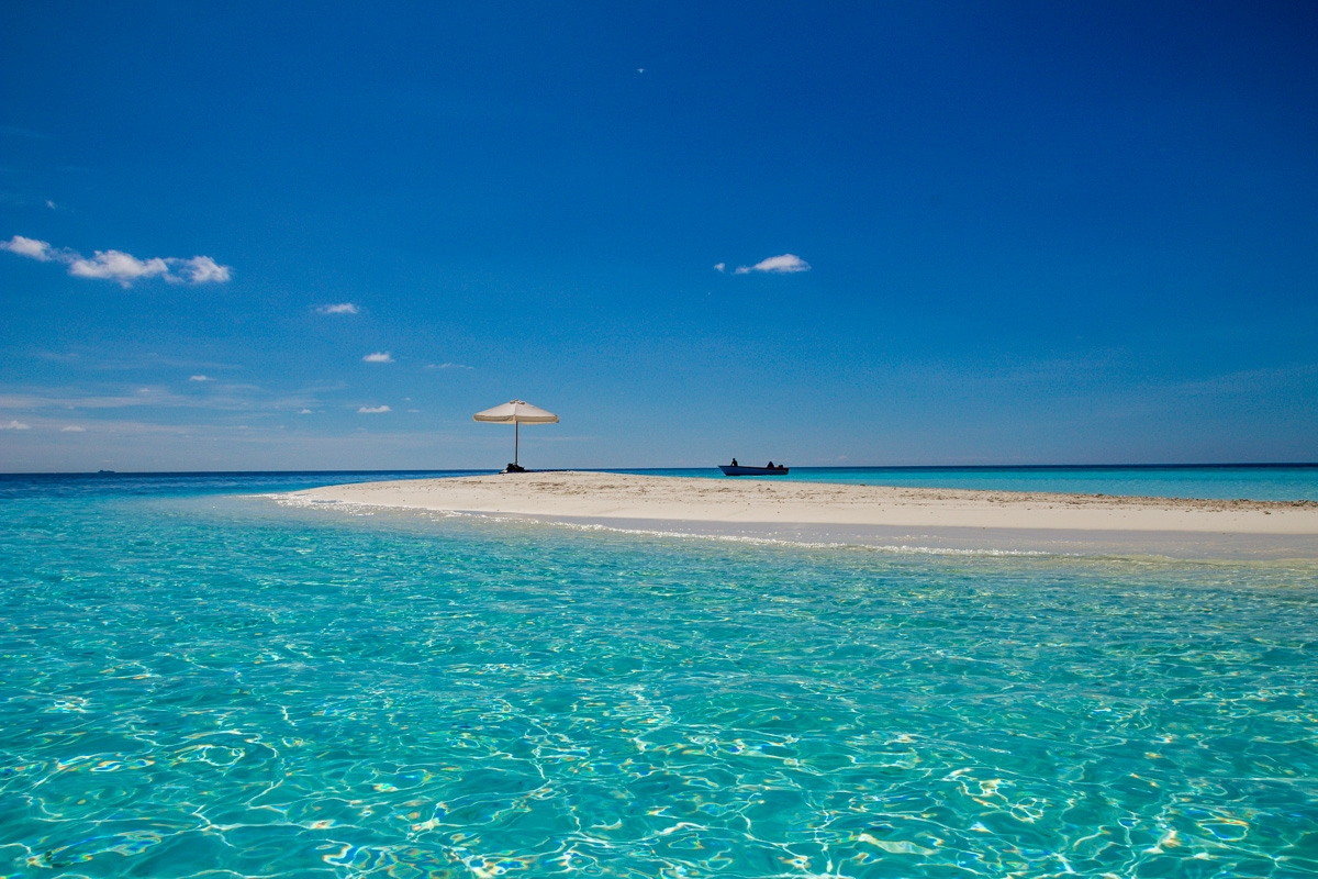 Sandbank en maldivas