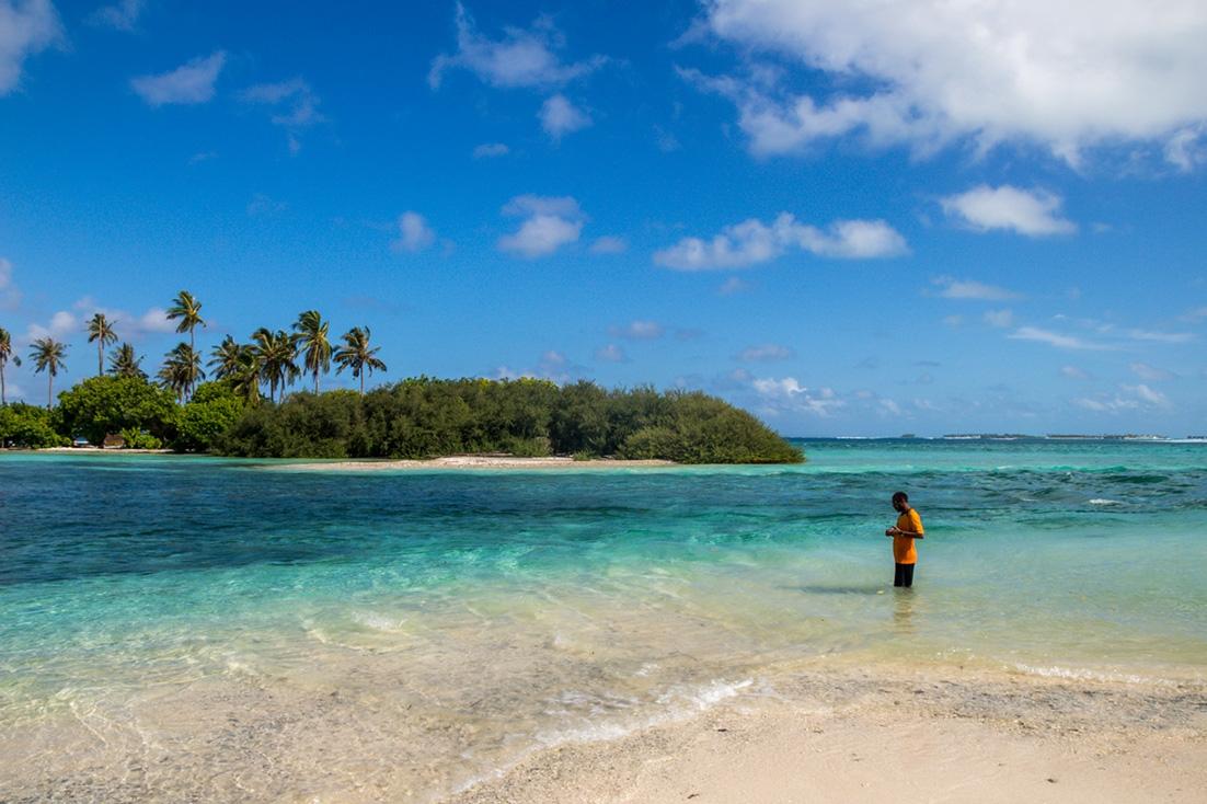 Pescando junto a la Picnic Island. Guraidhoo, Maldivas