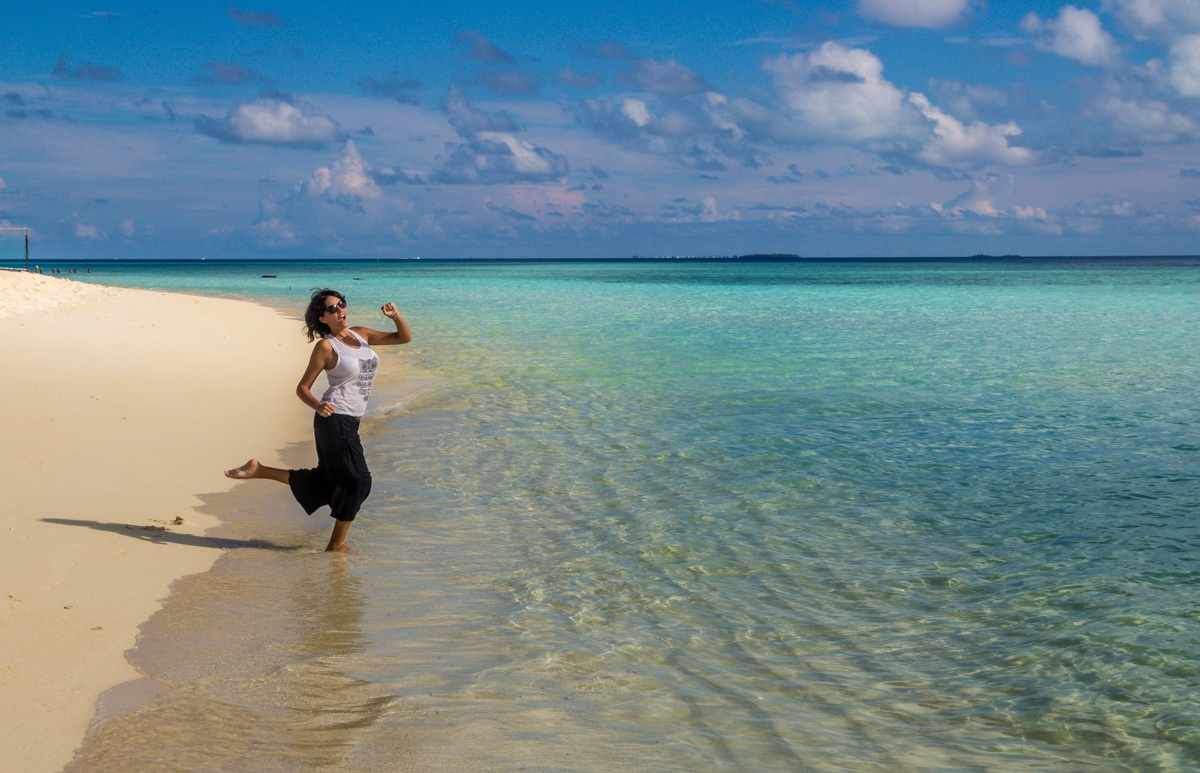 Primer contacto con la playa de Gulhi