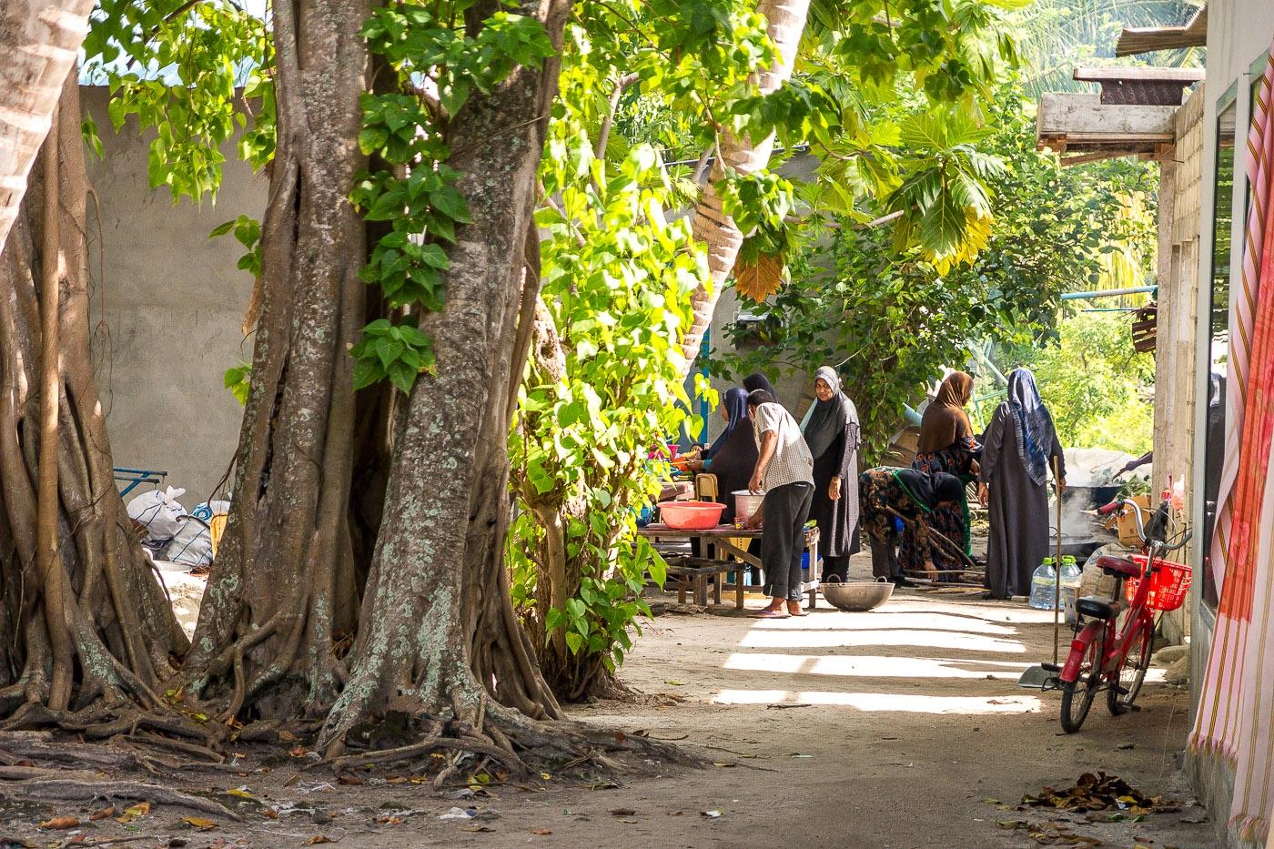 Preparando el banquete para una boda Maldiva, Mathiveri