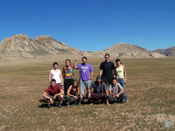 El grupo al completo! Raquel, Tere, Lyon, hermano, Cris, Regue, Raquel, yo y Javi.