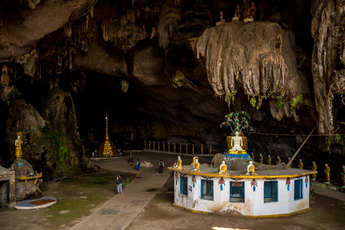 Entrada a una de las cuevas, Saddar Cave. Alrededores de Hpa An