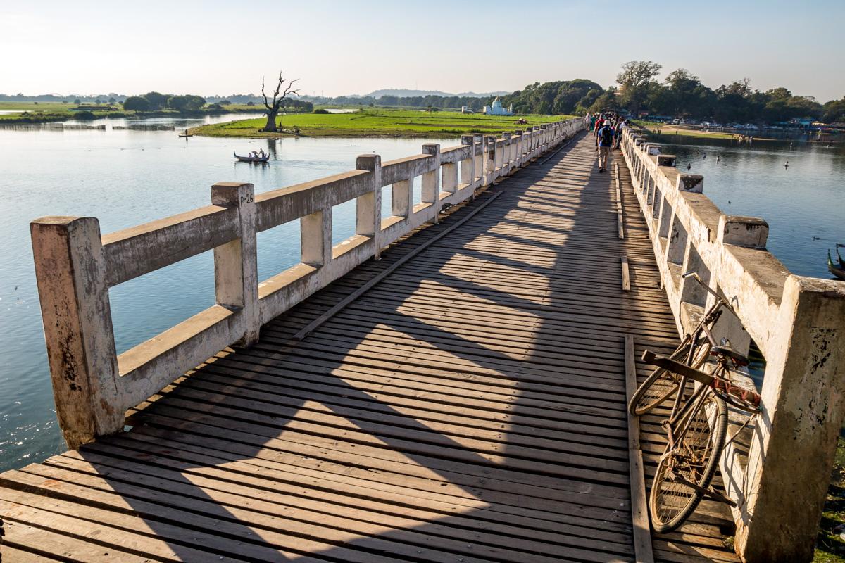 El gran puente de teca de Amarapura