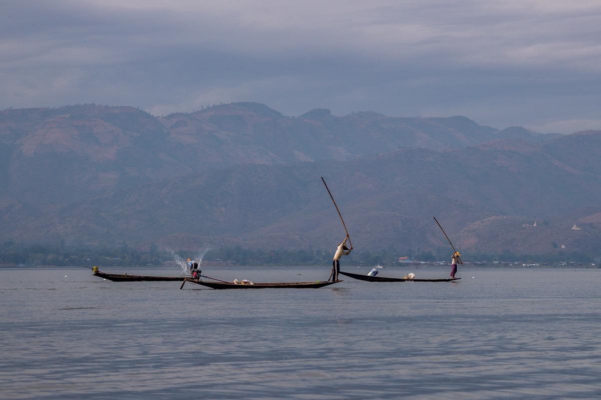 Extrañas técnicas de pesca, Lago Inle