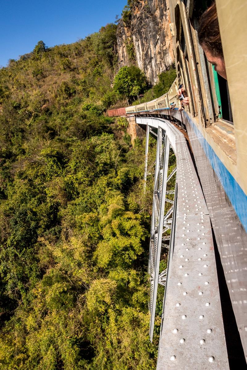 Esto está muy alto! Viaducto de Gokteik