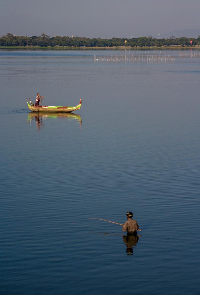 Escenas bucólicas de pesca, Amarapura