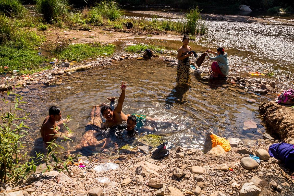 Una de las pozas de los hot springs, Hsipaw