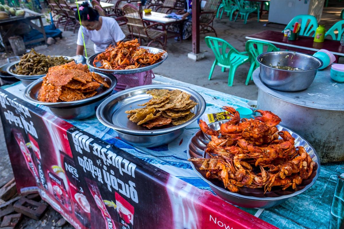 Comida local, Amarapura, Mandalay