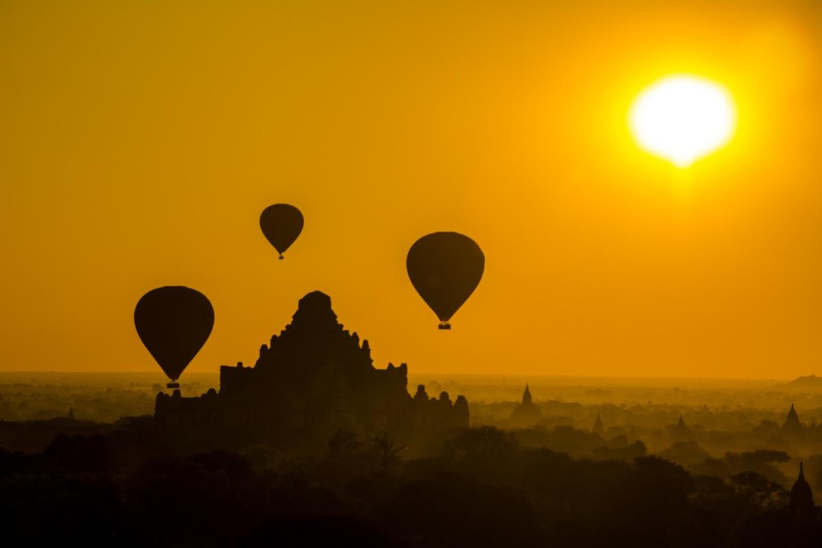 Siluetas de Bagan
