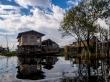 Pueblo en medio del Lago Inle