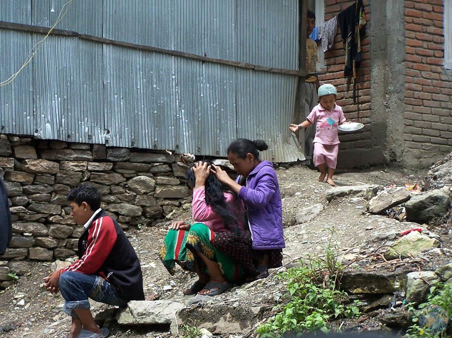Niños en las tierras de Nepal