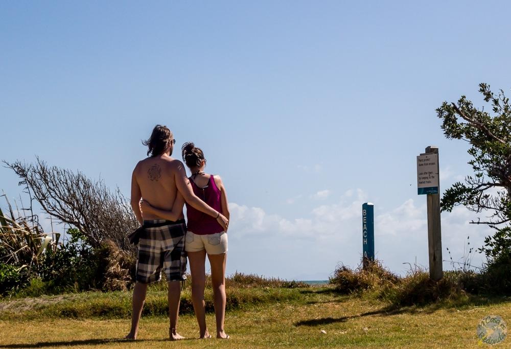 Queen Elisabeth Park, Paekakariki, en la costa Kapiti