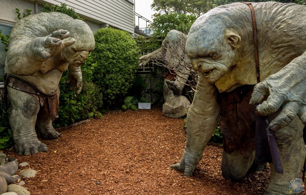Los trolls en Weta Cave, Wellington