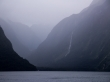 Para ver bien las proporciones, fijaos en el barco. Milford Sound