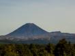El volcán Ngauruhoe (o monte del Destino) desde la carretera