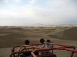 Con nuestro buggy en las dunas de Huacachina