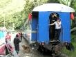 El tren que iba de la hidroeléctrica a Aguas Calientes
