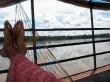 Vistas desde mi suite en el barco (mi hamaca era la peor de todo el barco)