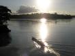 Atardecer en el río Coca desde el barco